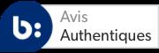 L'icône du sceau de confiance fait apparaître une infobulle au sujet de l'authenticité BV
